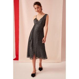 KEEPSAKE the LABEL Now and Then Black Lurex Dress